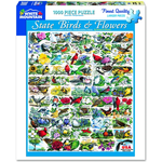 White Mountain Puzzles State Birds & Flowers 1000 Piece Jigsaw Puzzle