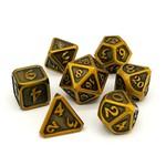 Die Hard Dice Dice: 7-Set Mythica Battleworn Gold