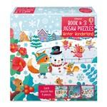 Usborne Book & 3 Jigsaw Puzzles: Winter Wonderland (9p)
