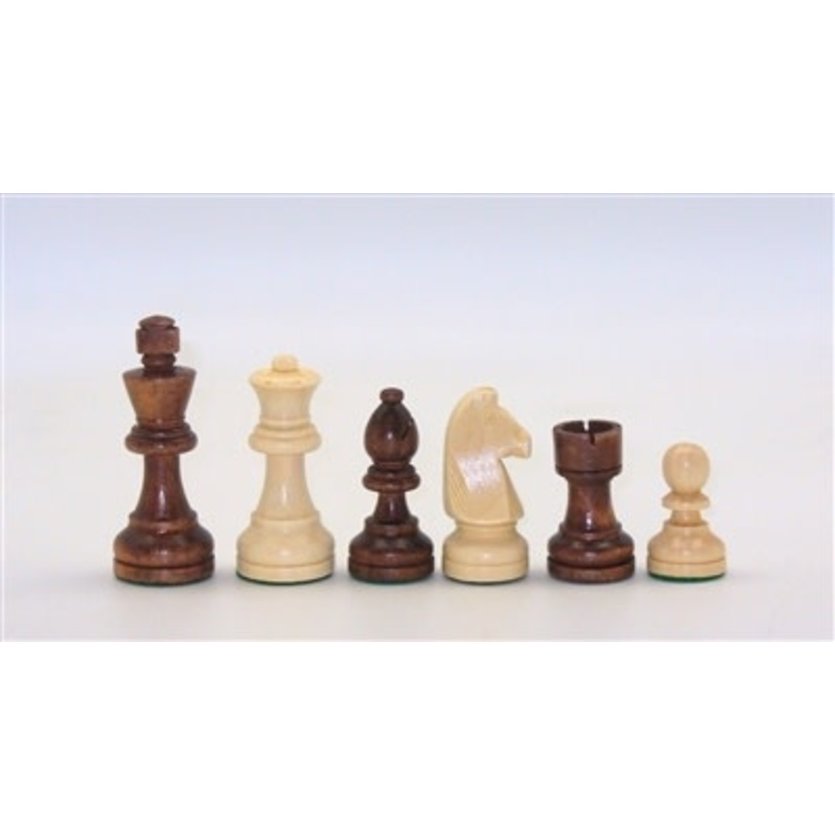"""Worldwise Imports Chess Pieces 3.5"""" Brown Stained & Natural Boxwood German"""