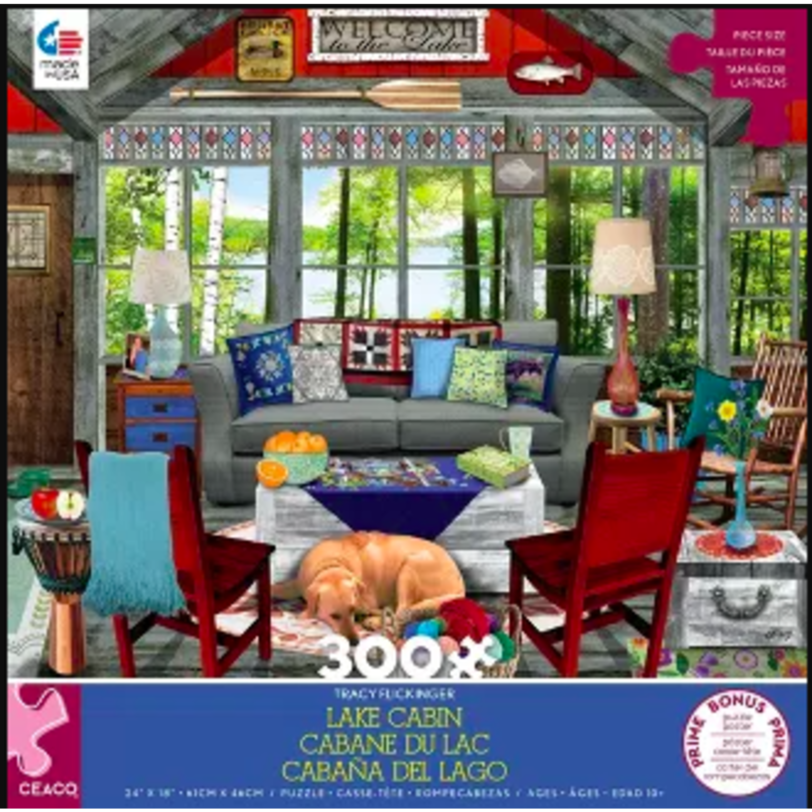 Ceaco Tracy Flickinger Lake Cabin (300 pieces)
