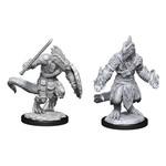 WizKids D&D Minis (unpainted) Lizardfolk Barbarian & Cleric W15 90308