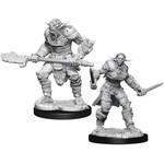 WizKids D&D Minis (unpainted) Bugbear M Barbarian & F Rogue W15 90311