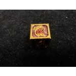 Hymgho Dice US Hymgho: D6 Gold and Purple with Red Lettering Solid Metal Dragon Die