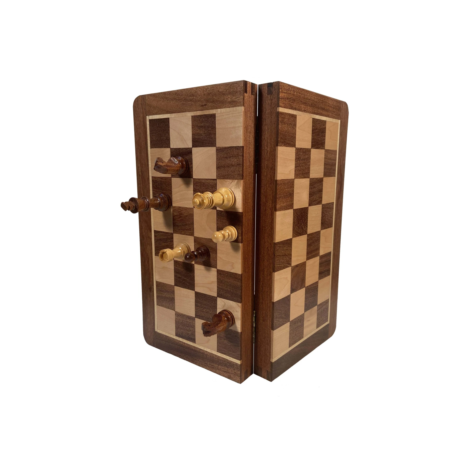 """Wood Expressions Chess Set 12"""" Magnetic Folding"""