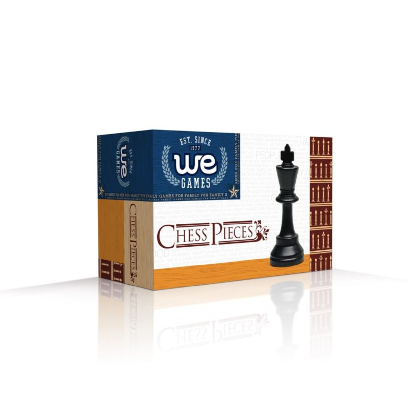 """Wood Expressions Chess Pieces 3.75"""" Plastic Double-Weighted in Box"""