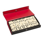 Wood Expressions Dominoes 6 Club Size with Spinners