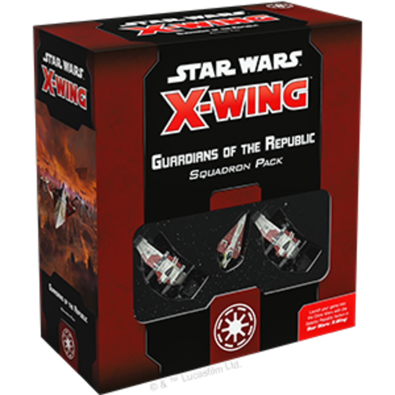 Fantasy Flight Games Star Wars X-Wing 2nd Edition: Guardians of the Republic Squadron Pack