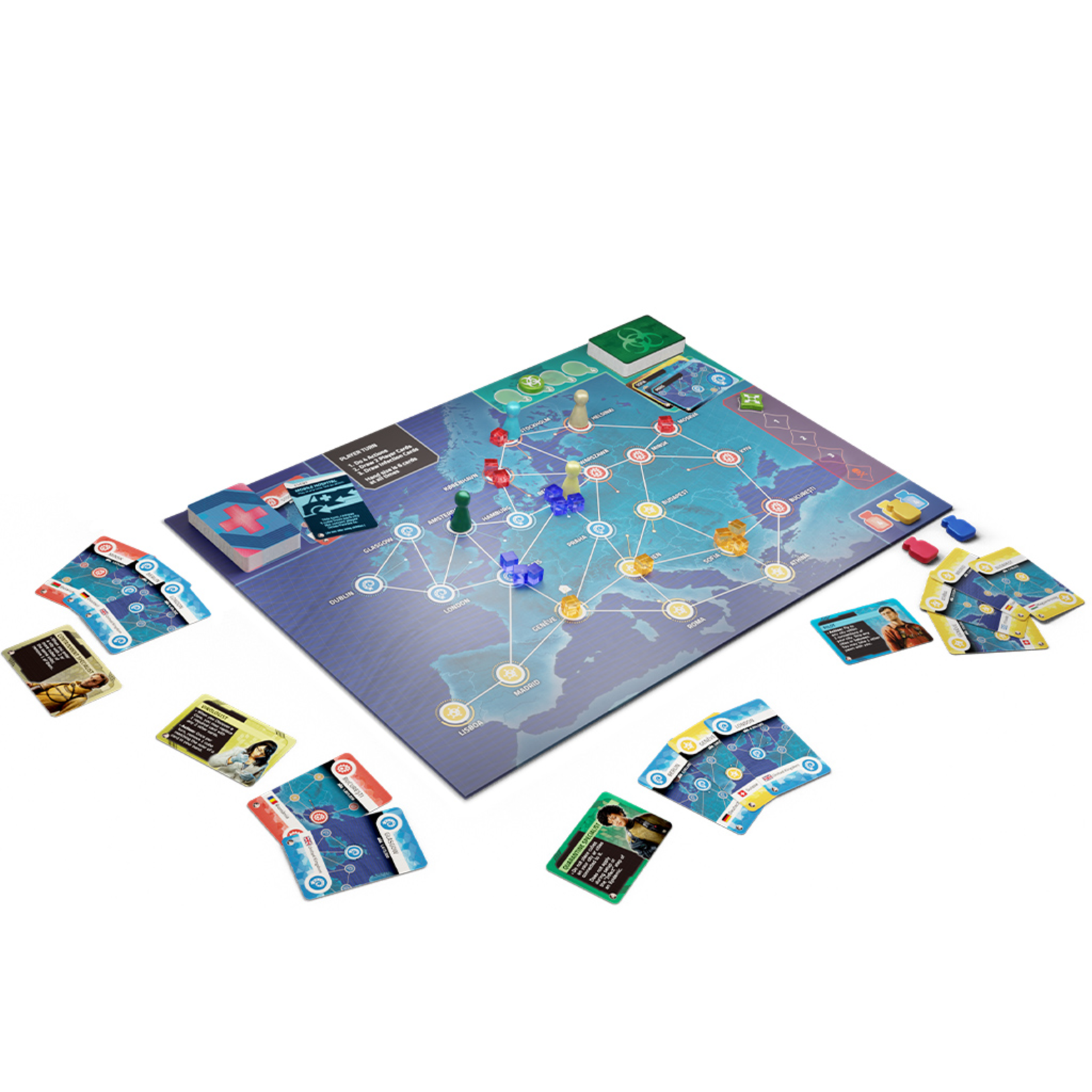 Z-MAN Games Pandemic Hot Zone: Europe