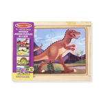 Melissa and Doug Dinosaur Jigsaw Puzzles in a Box (12 Piece Puzzles)