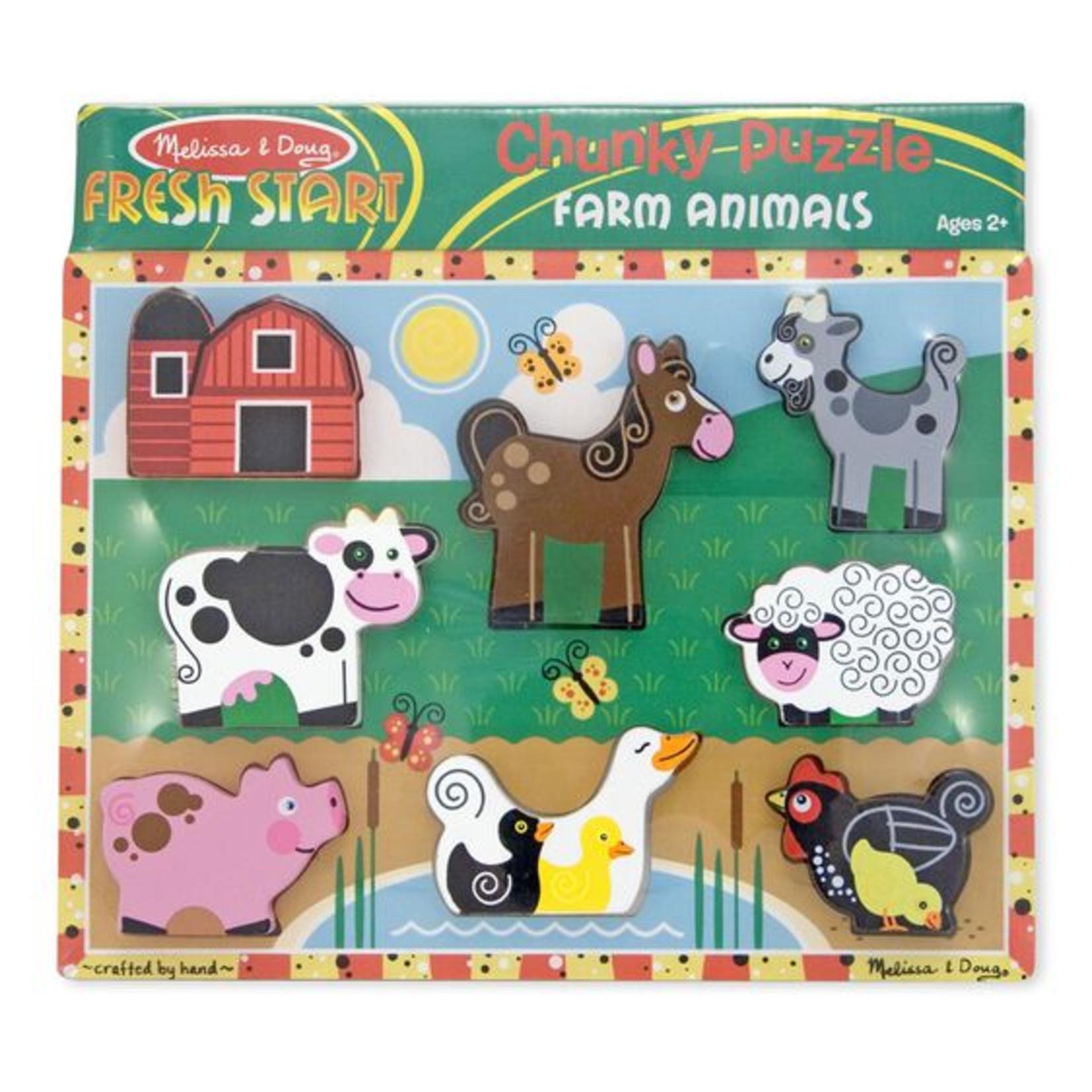 Melissa and Doug Chunky Puzzle Farm 8p