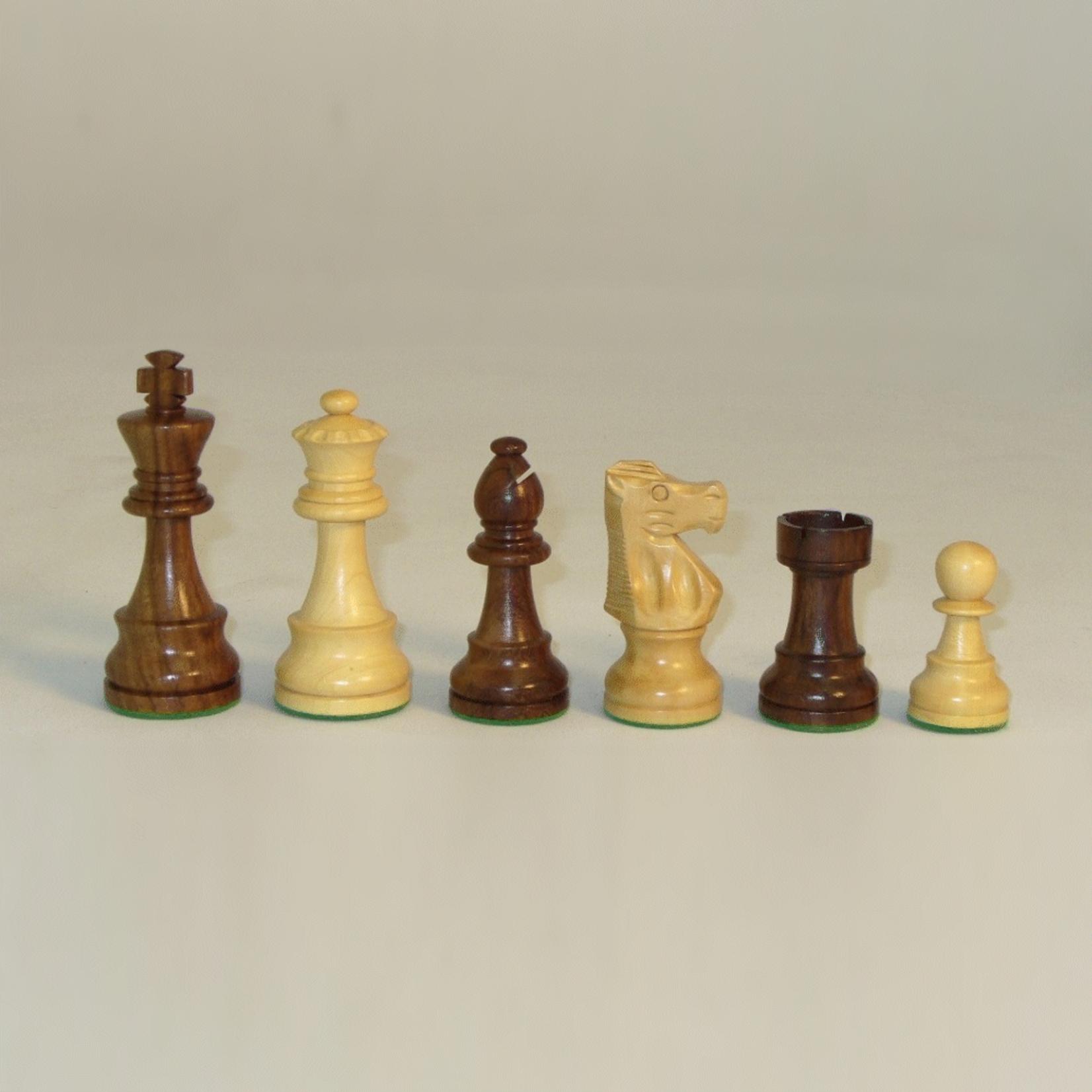 """Worldwise Imports Chess Pieces 3.5"""" French Kikkerwood/Boxwood"""
