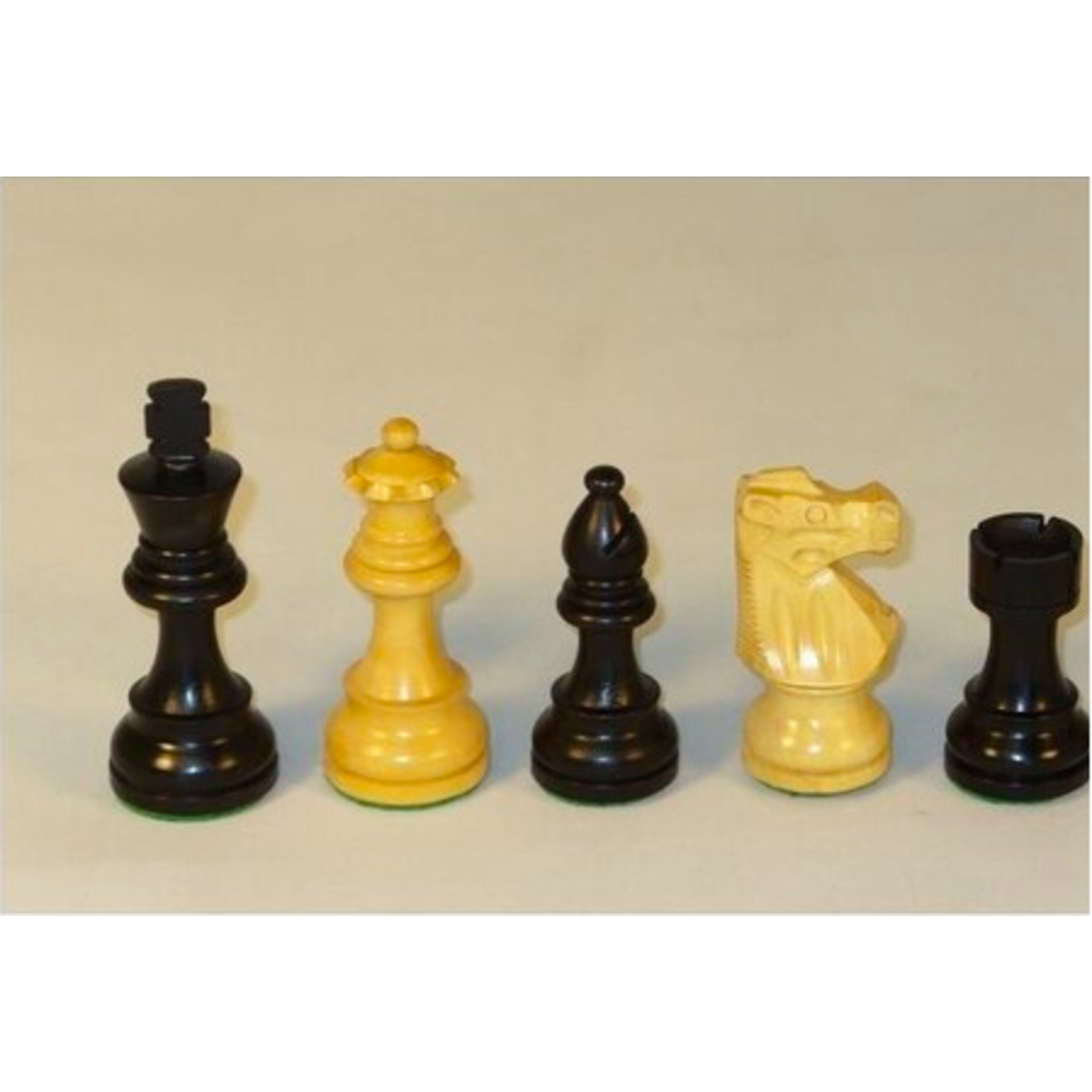 """Chess Pieces 3.5"""" SW Black/Natural Boxwood French"""