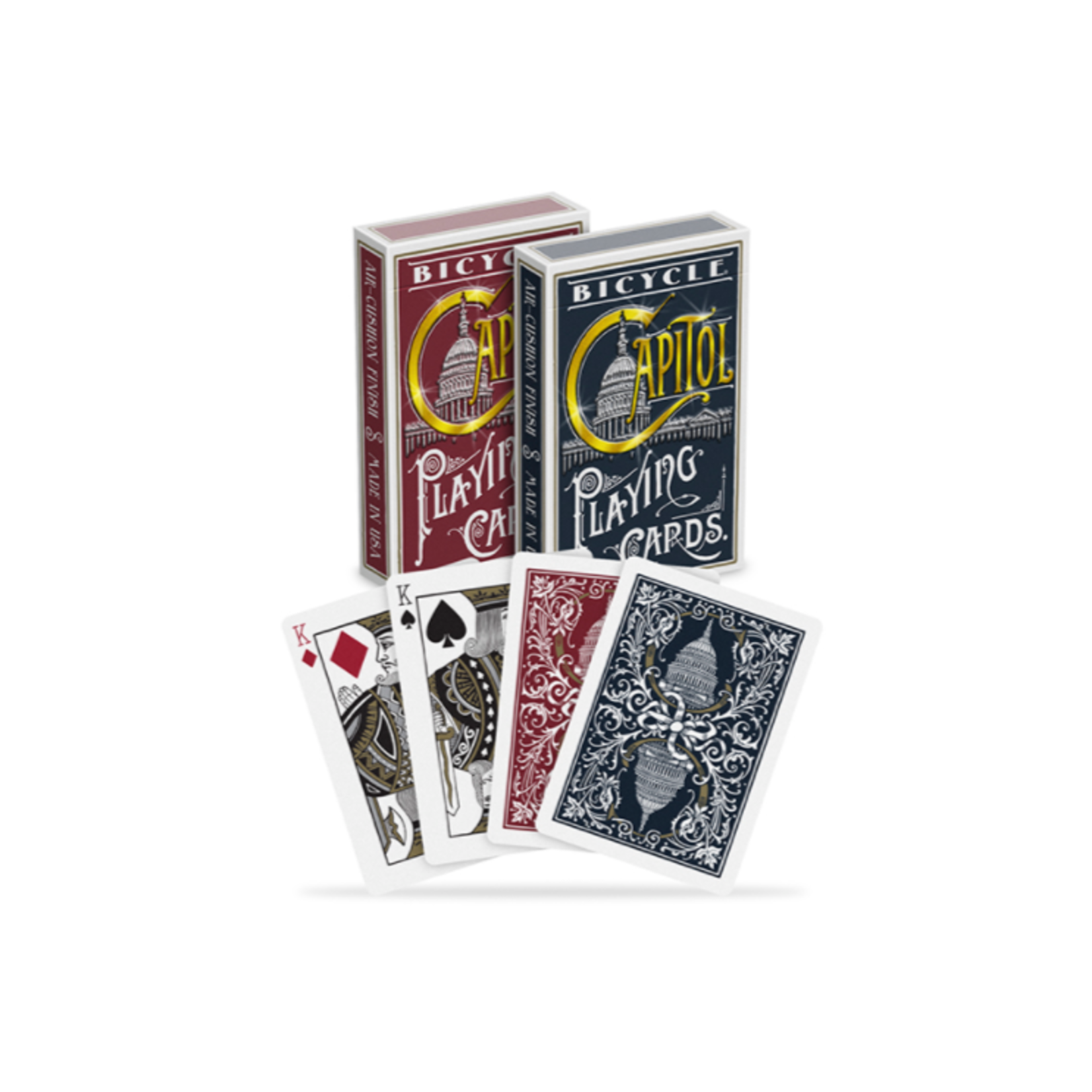 Bicycle Bicycle Playing Cards: Capitol Red/Blue