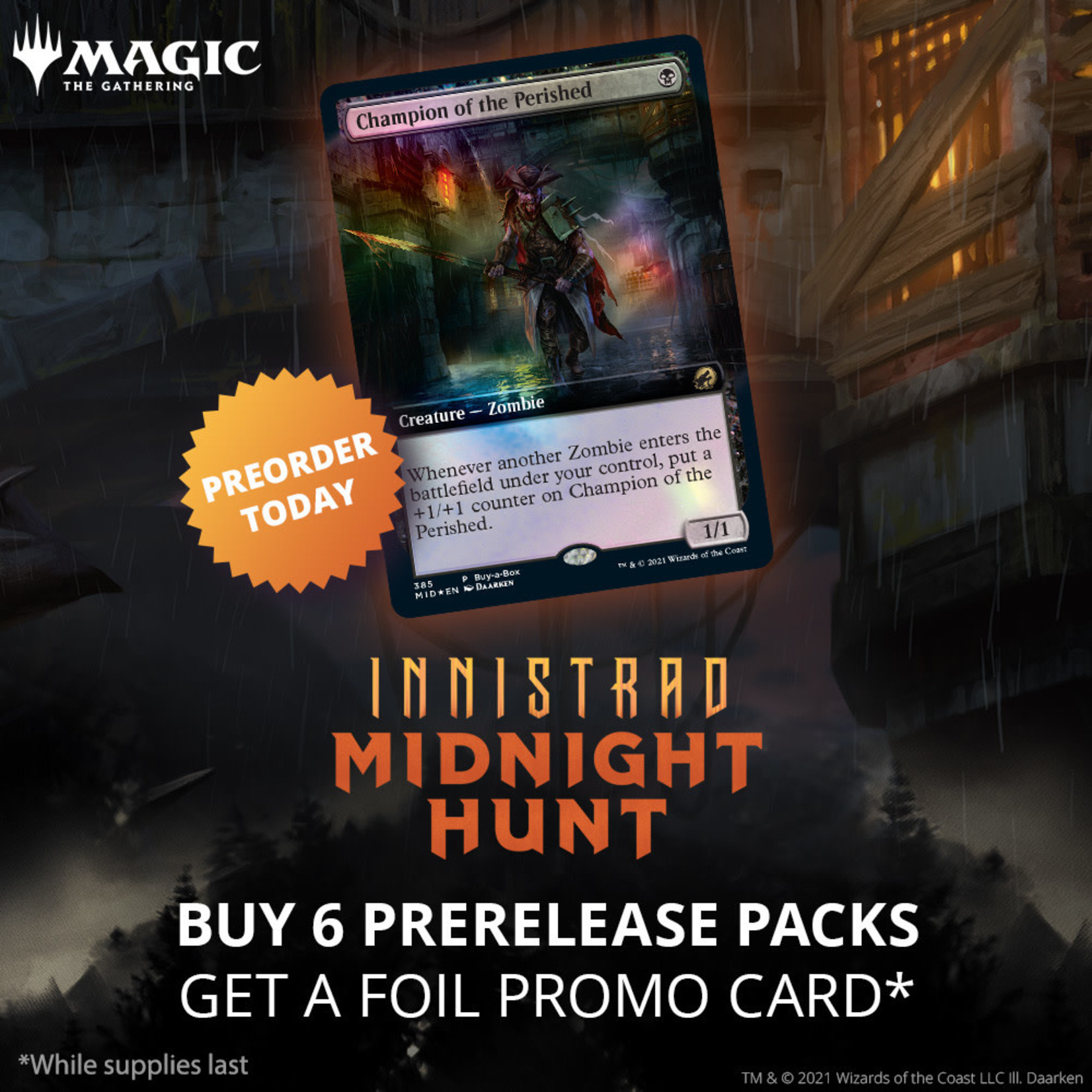 Magic: The Gathering Magic: The Gathering - Innistrad: Midnight Hunt Prerelease Pack + 2 Free Set Booster Packs