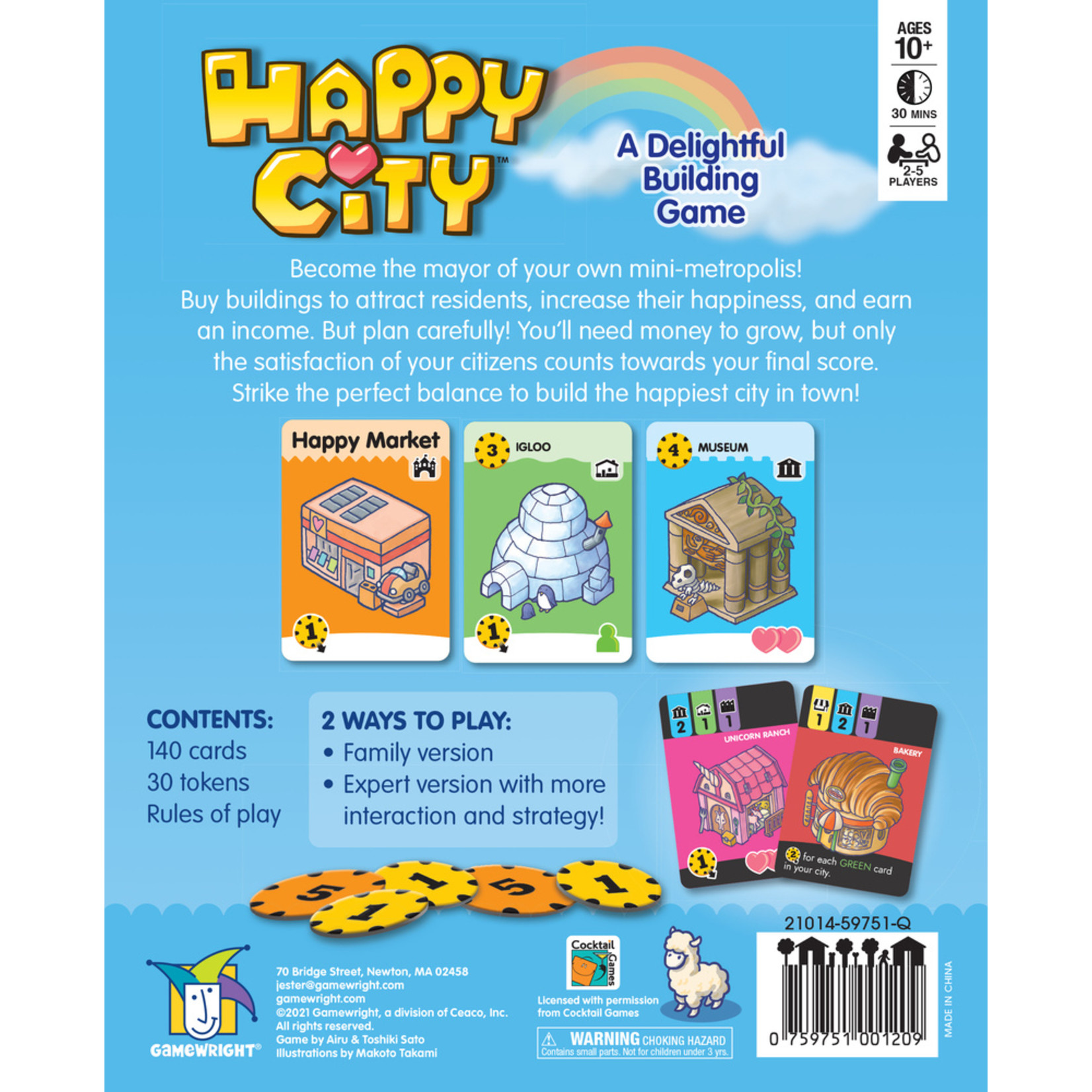 Gamewright Happy City: A Delightful Building Game
