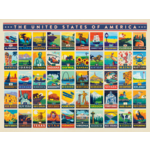 True South Puzzle American States Jigsaw Puzzle (500p)