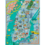 True South Puzzle NYC Illustrated Jigsaw Puzzle (500p)