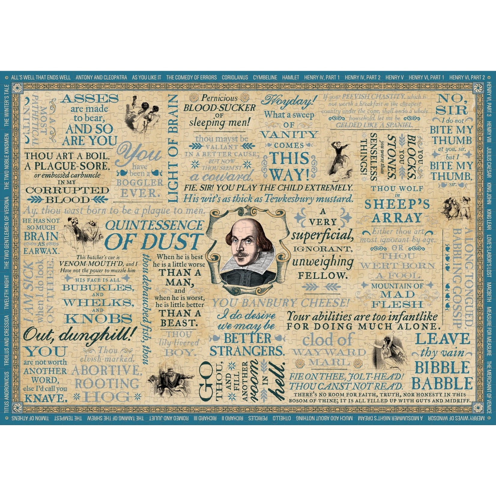 The Unemployed Philosophers Guild Shakespearean Insults Puzzle (1000 pieces)
