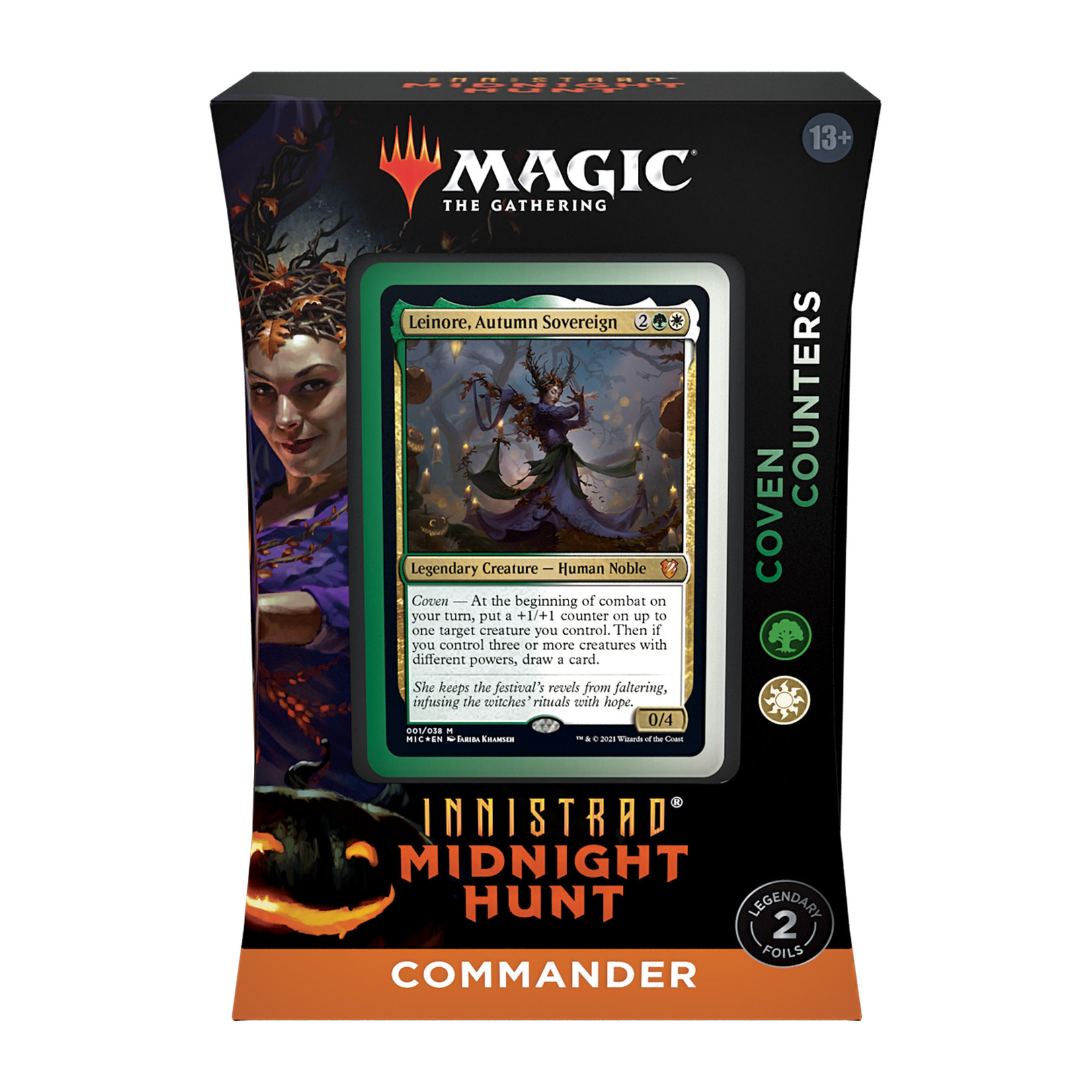 Magic: The Gathering Magic: The Gathering - Innistrad: Midnight Hunt Commander Deck - Coven Counters (Green-White)