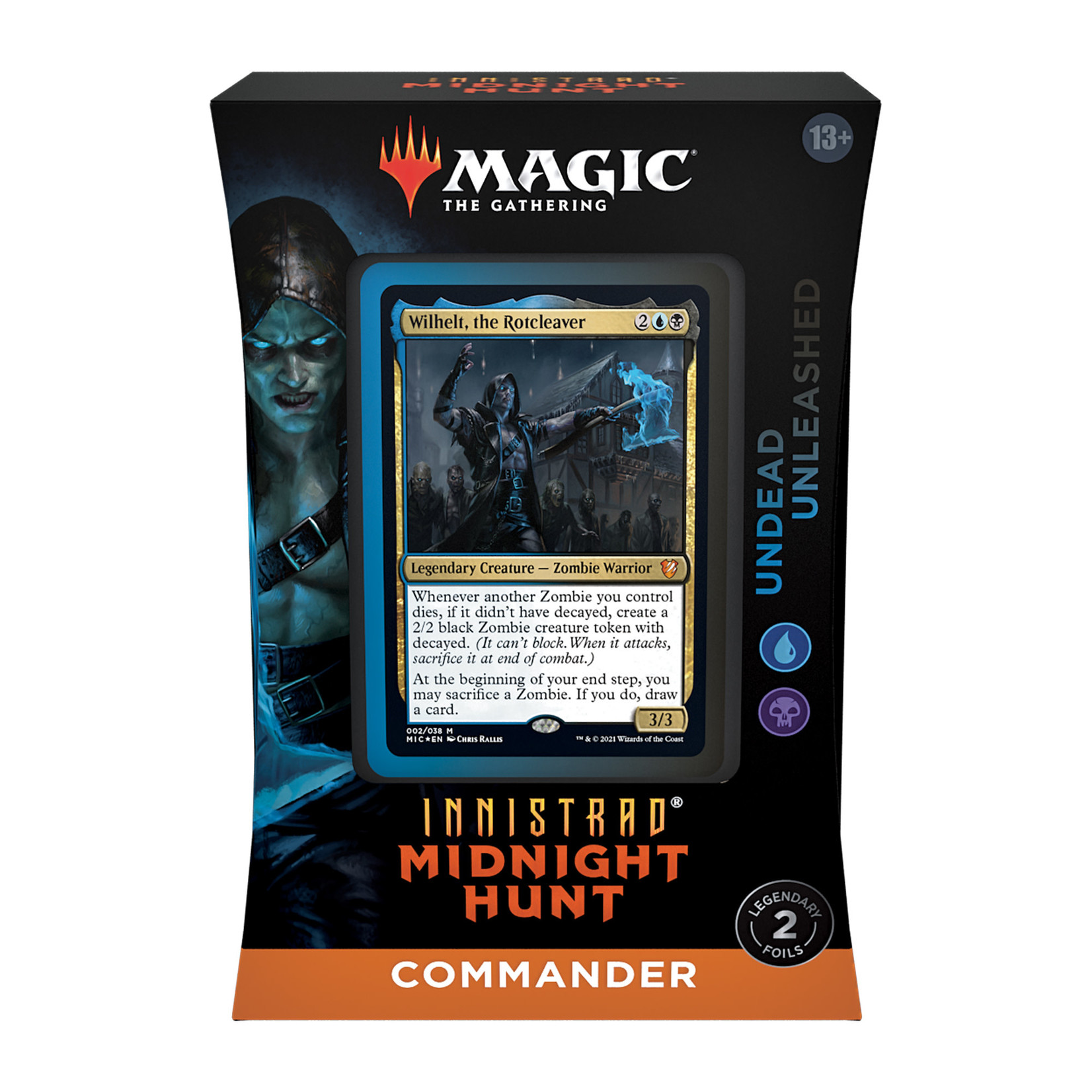 Magic: The Gathering Magic: The Gathering - Innistrad: Midnight Hunt Commander Deck - Undead Unleashed (Blue-Black)