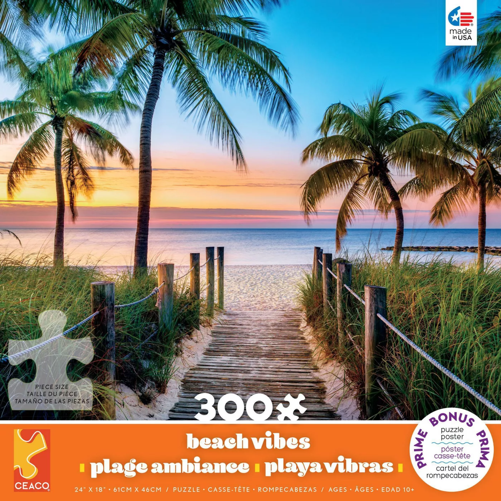 Beach Vibes Puzzle - Key West (300 pieces)
