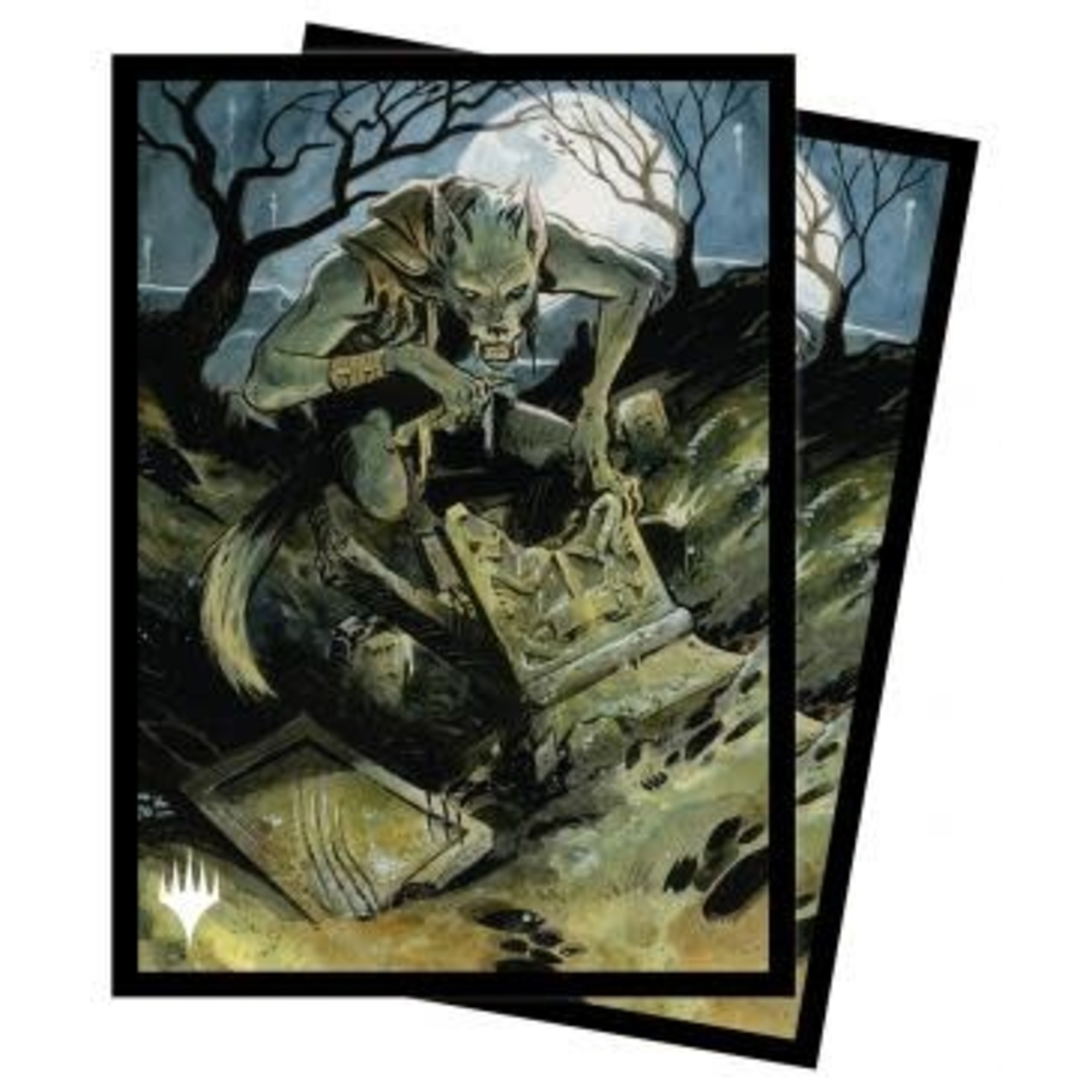 Ultra Pro Magic: The Gathering - Innistrad: Midnight Hunt Card Sleeves V3 featuring Graveyard Glutton (100)