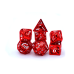 Hymgho Dice US Hymgho 7-Set Red and White Hollow Metal Dragon