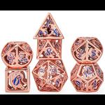 Hymgho Dice US Hymgho 7-Set Rose Gold With Blue Hollow Metal Dragon