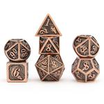 Hymgho Dice US Hymgho 7-Set Brushed Copper Solid Metal Dragon