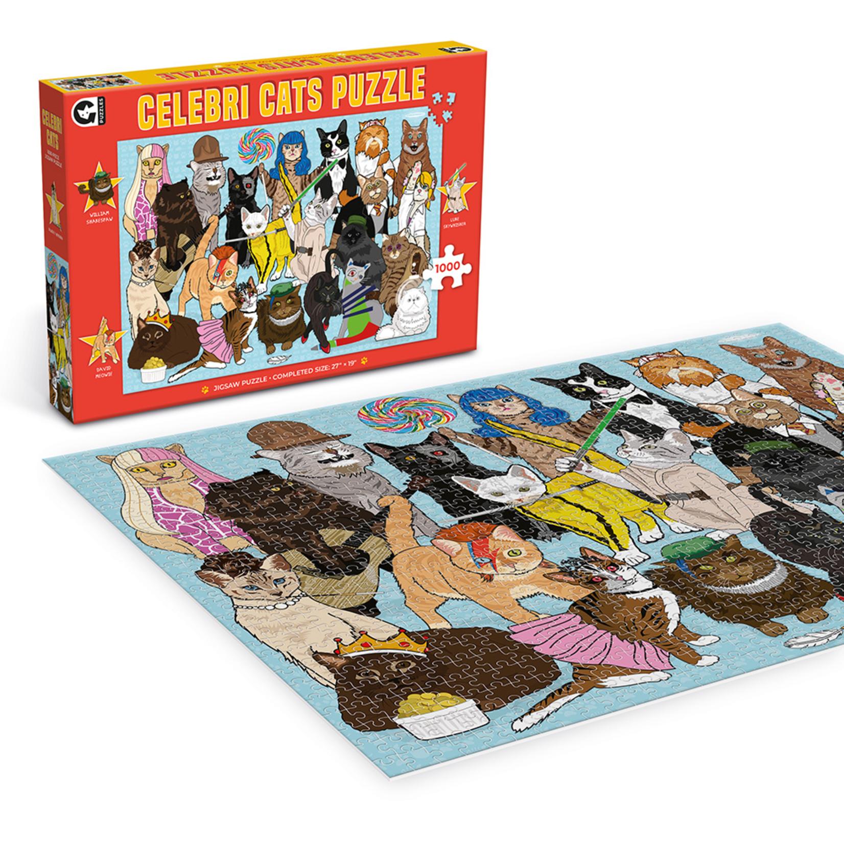 Ginger Fox Celebri Cats Puzzle (1000 pieces)