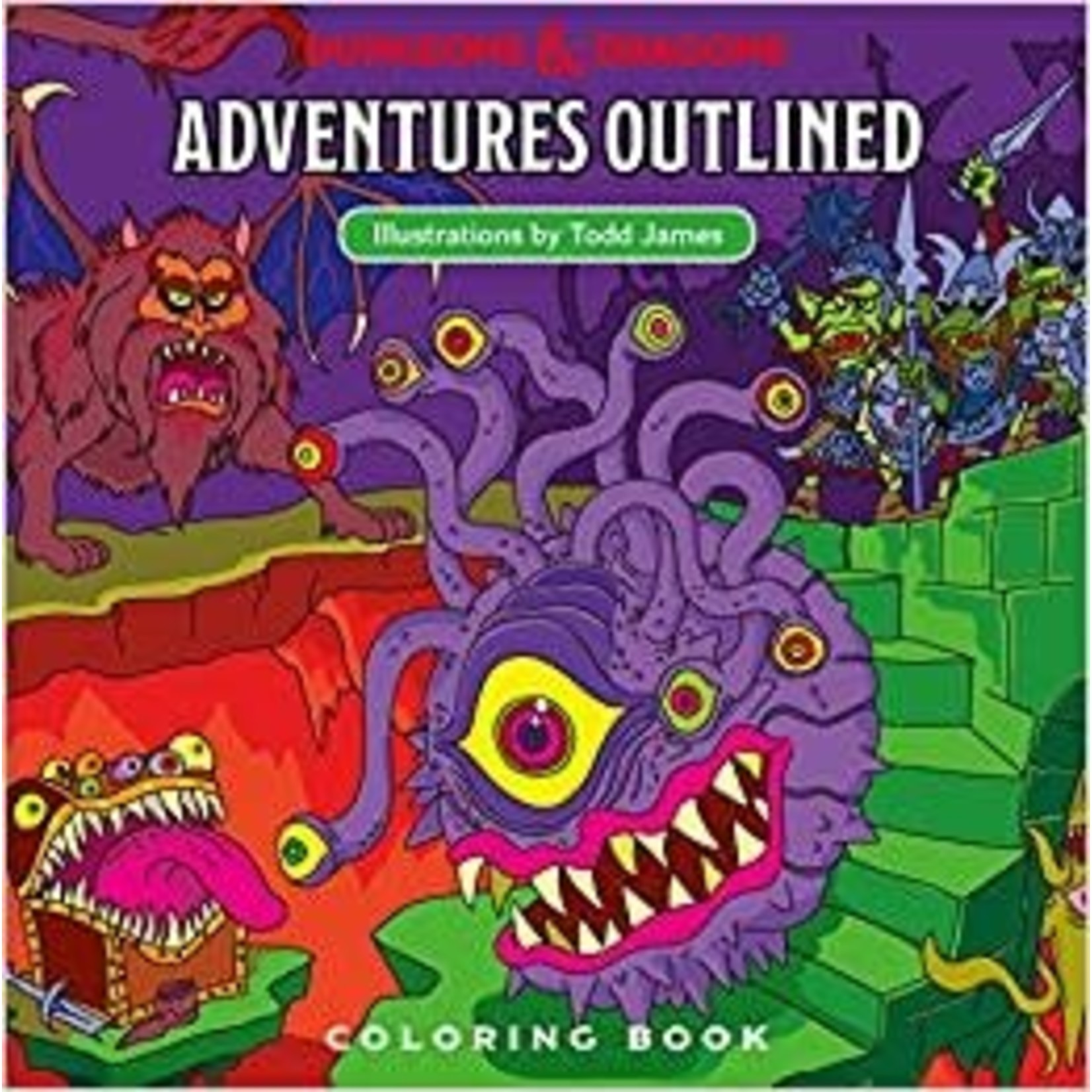 Dungeons & Dragons D&D Adventures Outlined Coloring Book