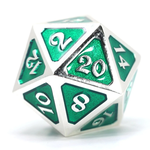 Die Hard Dice Dire d20 Mythica Platinum Emerald