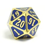 Die Hard Dice Roll Down D20 Shiny Gold Sapphire