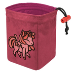 Red King Co Embroidered Dice Bag Charmed Creatures: Unicorn