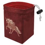 Red King Co Glow in the Dark Dice Bag:  Dimensional Unicorn