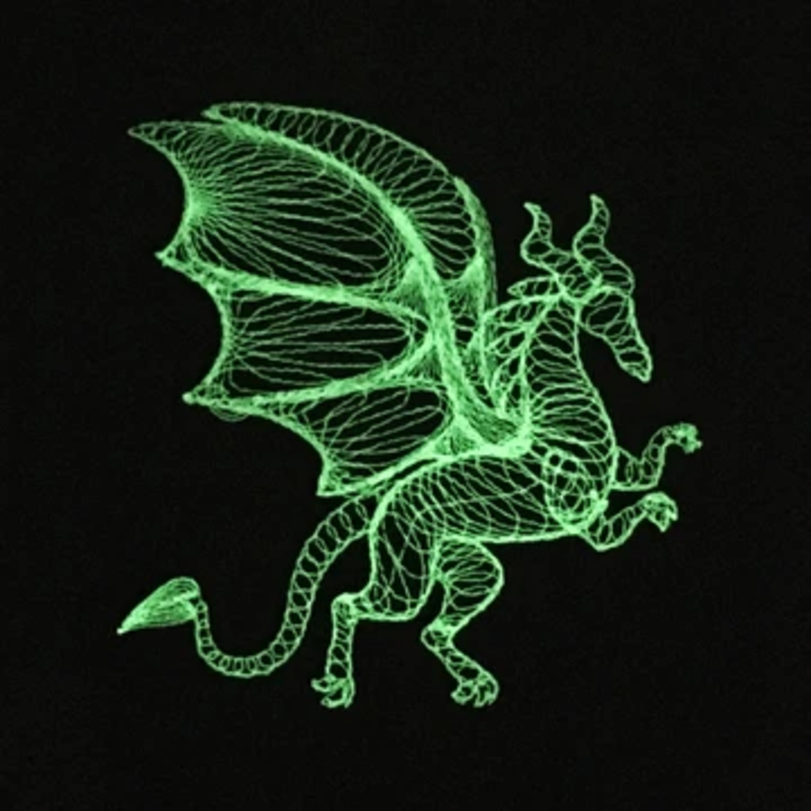 Red King Co Glow in the Dark Dice Bag:  Dimensional Dragon