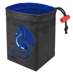 Red King Co Embroidered Dice Bag: Fantasy Dragon (Blue)
