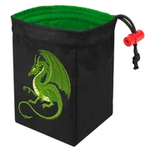 Red King Co Embroidered Dice Bag: Fantasy Dragon (Green)
