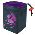 Red King Co Embroidered Dice Bag: Fantasy Dragon (Purple)