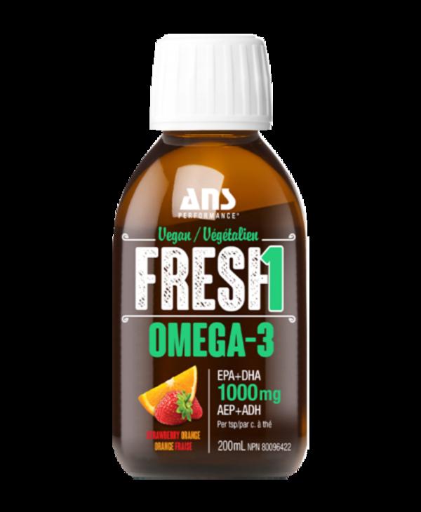 ANS vegan omega 3 200ml strawberry orange