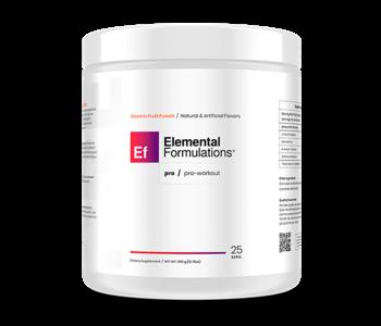 Elemental Formulations Pre 25 Servings Electric Fruit Punch