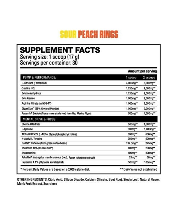 Hd Muscle Ultra Sour Peach Rings