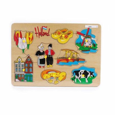 Children's Wooden Puzzle Windmill