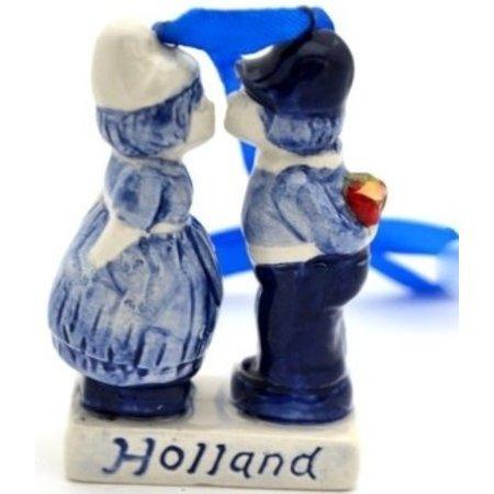 Kissing Couple Christmas Ornament