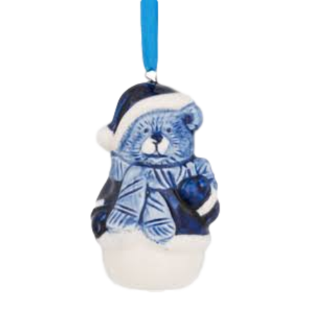 Santa Bear Christmas Ornament