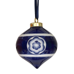 Droplet Blue Christmas Ornament