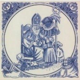 """Sinterklaas & Piet """"Presents"""" Tile"""