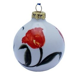 Orange Tulips Christmas Ornament