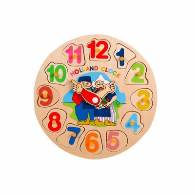 Wooden Puzzle Holland Clock